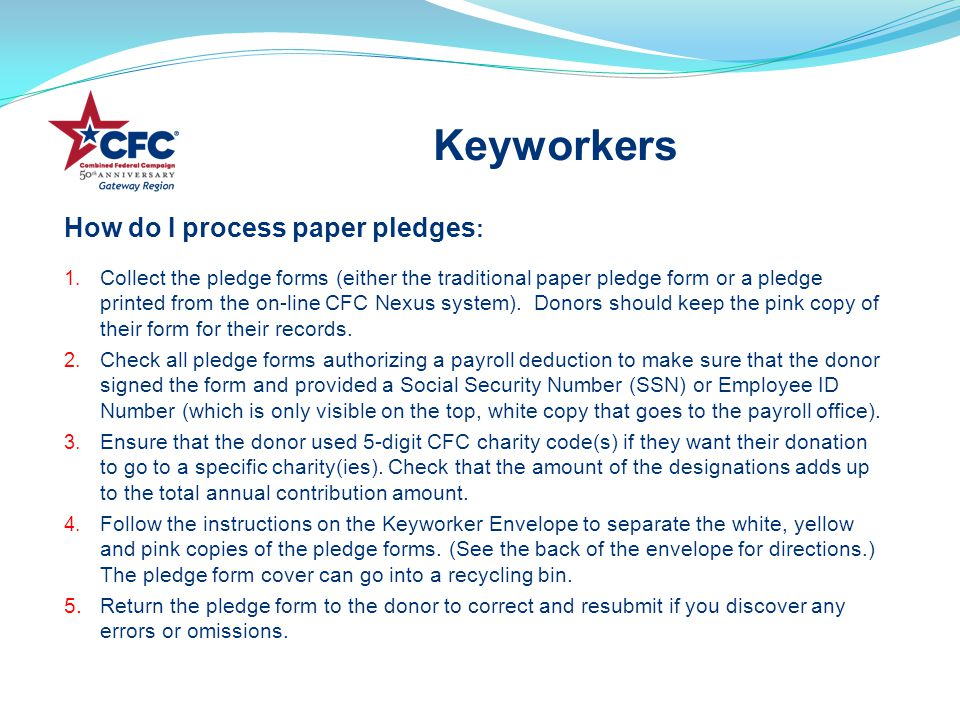 How do I process paper pledges : 1.