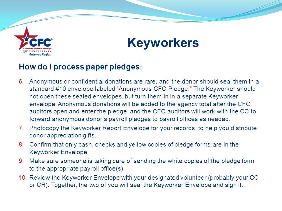 How do I process paper pledges : 6.