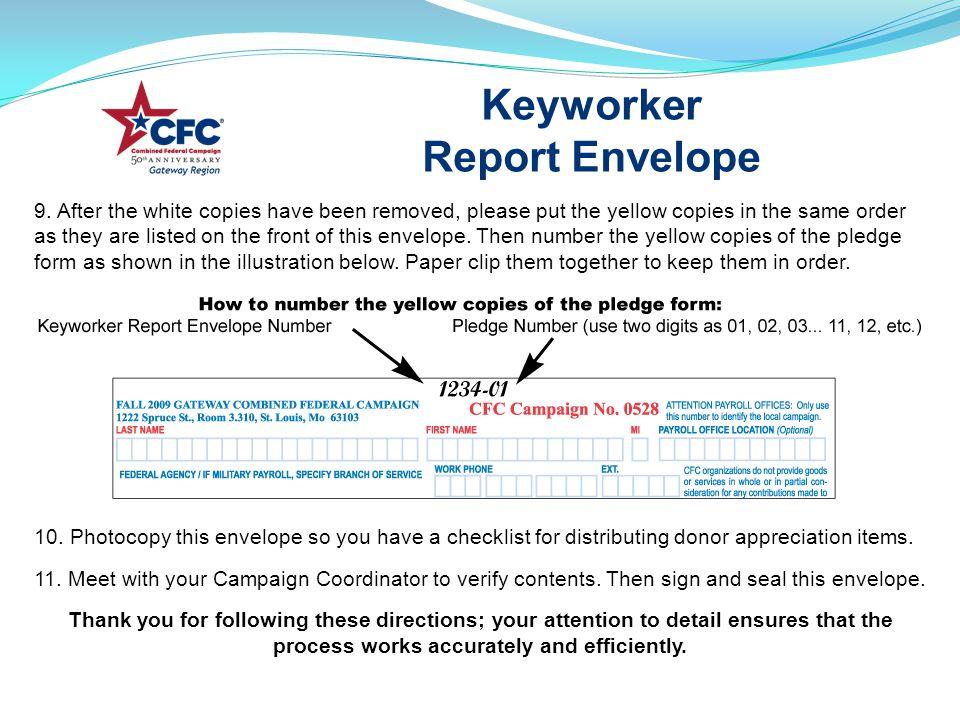 Keyworker Report Envelope 9.