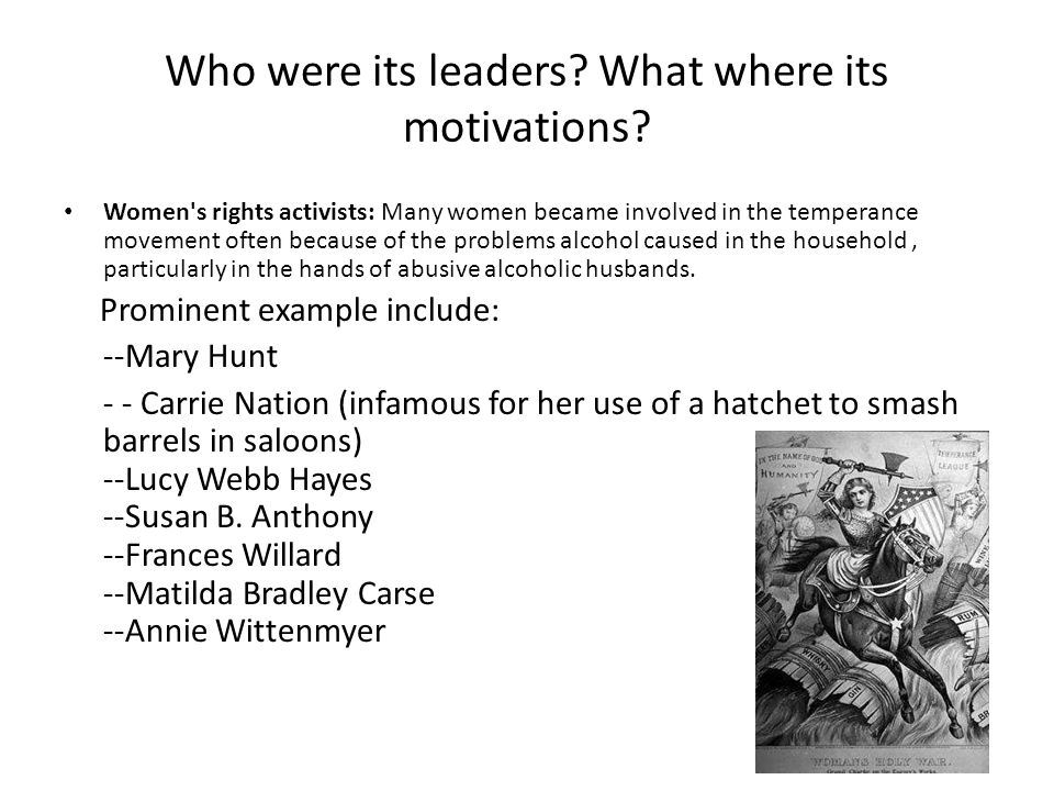 Who were its leaders.What where its motivations.