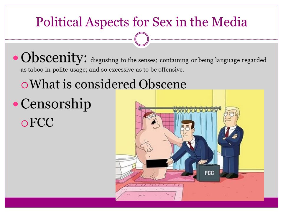 Obscenity: disgusting to the senses; containing or being language regarded as taboo in polite usage; and so excessive as to be offensive.