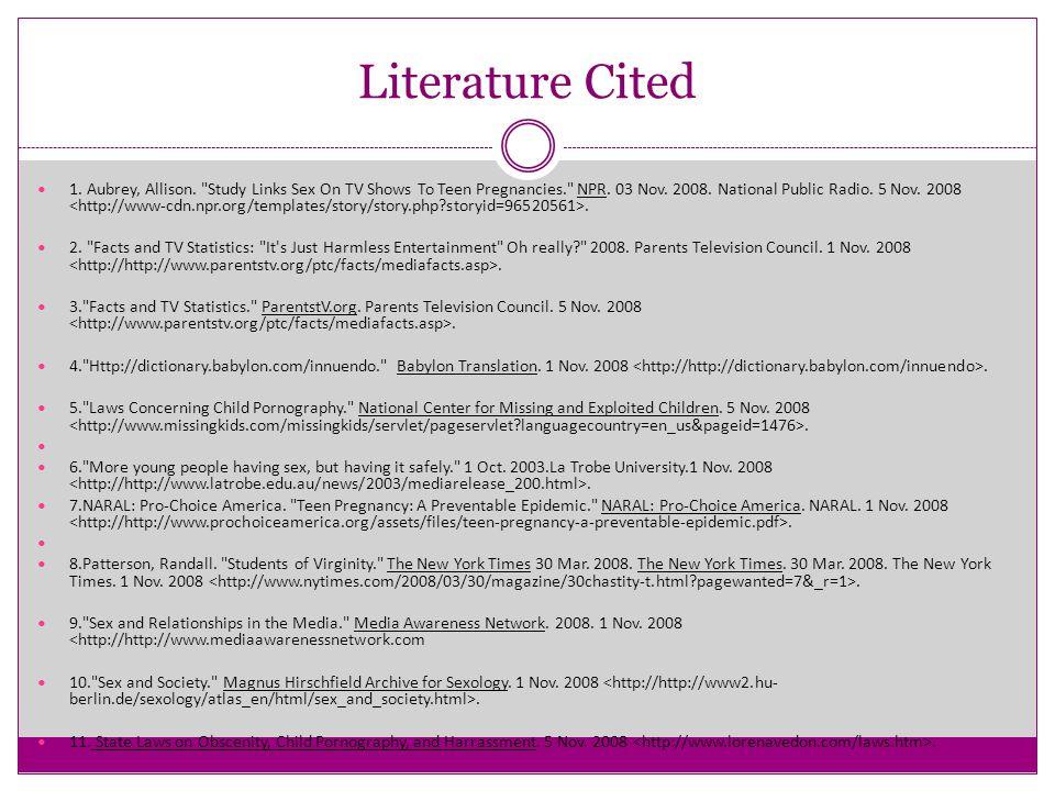 Literature Cited 1. Aubrey, Allison.