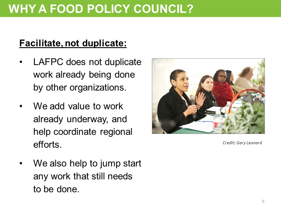 WHY A FOOD POLICY COUNCIL.
