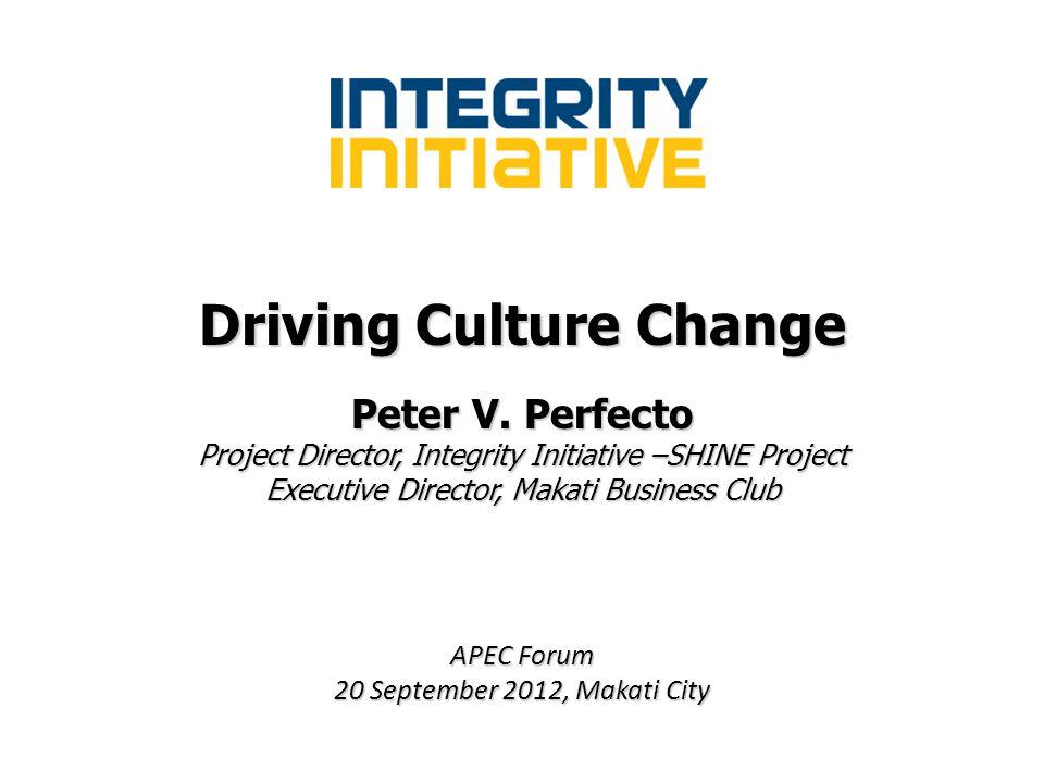 Driving Culture Change Peter V.