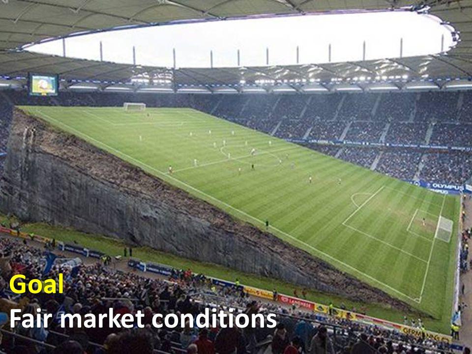 Goal Fair market conditions