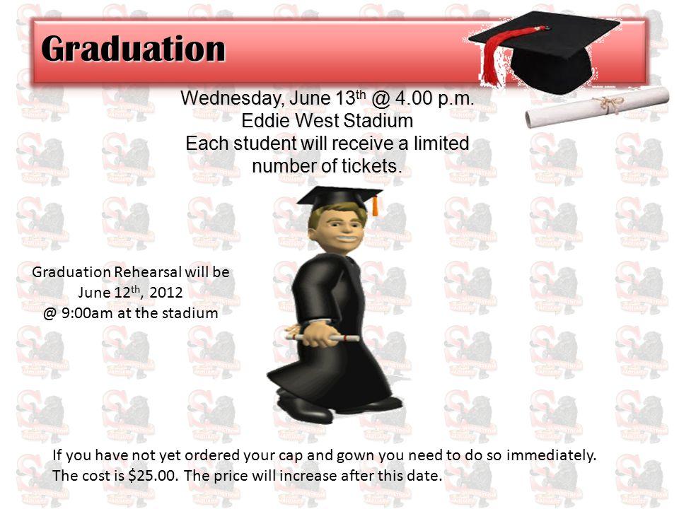Wednesday, June 13 th @ 4.00 p.m.