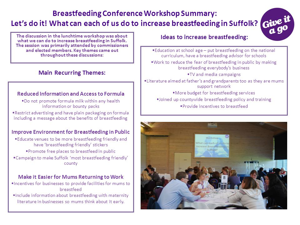 Breastfeeding Conference Workshop Summary: Let's do it.