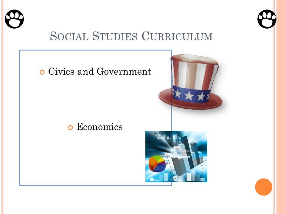 S OCIAL S TUDIES C URRICULUM Civics and Government Economics