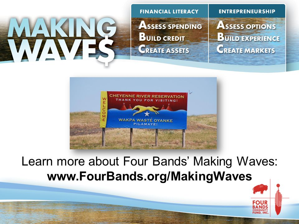 Learn more about Four Bands' Making Waves: www.FourBands.org/MakingWaves