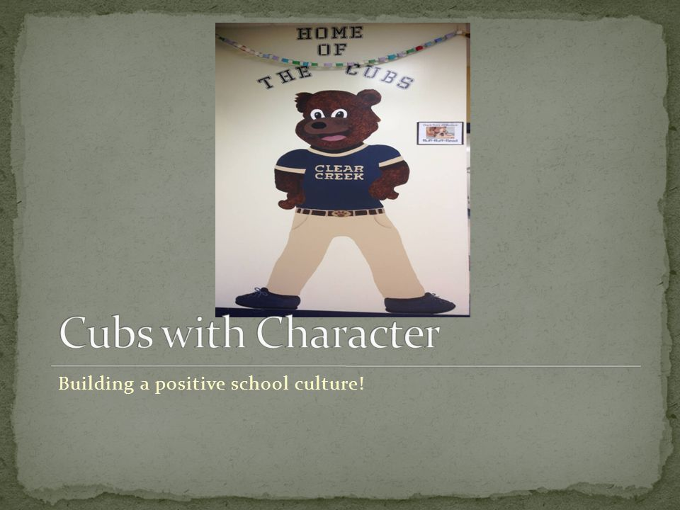 Building a positive school culture!
