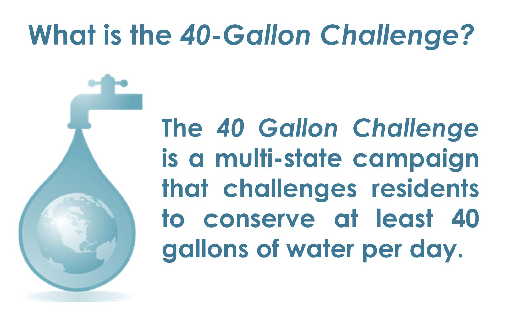 What is the 40-Gallon Challenge.