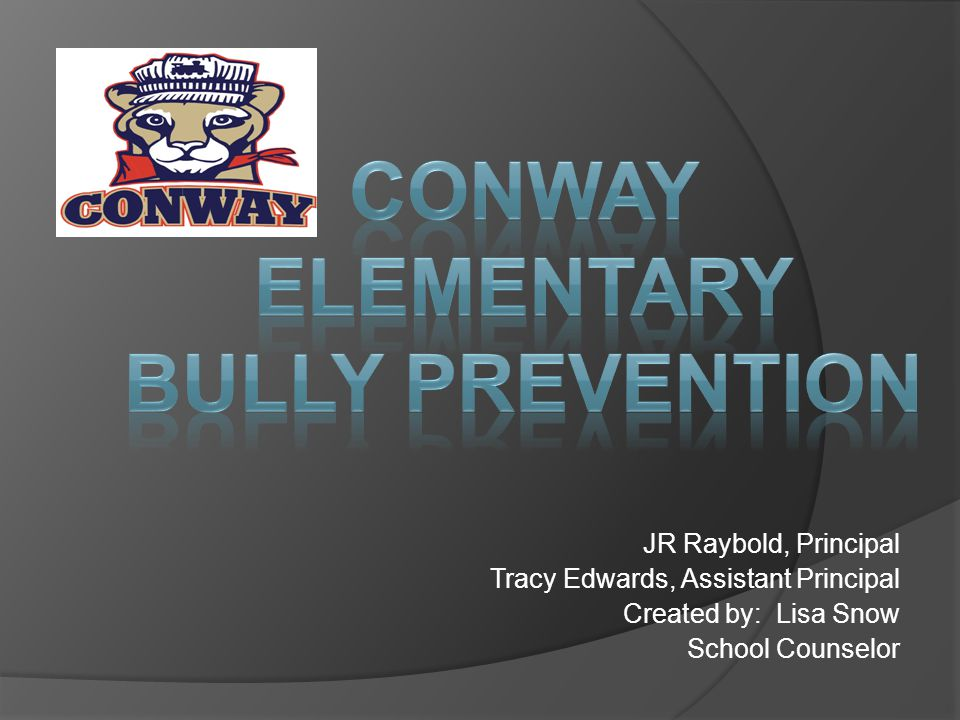 JR Raybold, Principal Tracy Edwards, Assistant Principal Created by: Lisa Snow School Counselor