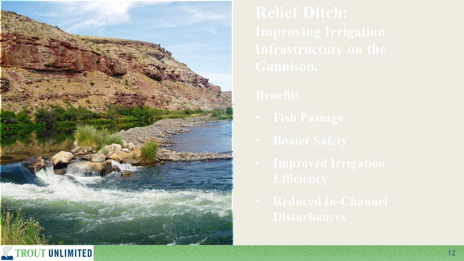 12 Relief Ditch: Improving Irrigation Infrastructure on the Gunnison.