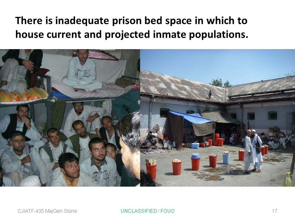 There is inadequate prison bed space in which to house current and projected inmate populations.