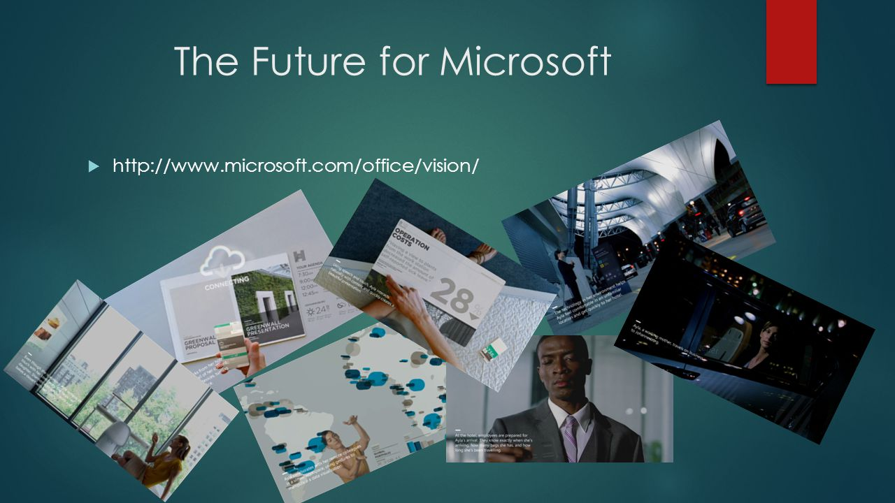 The Future for Microsoft  http://www.microsoft.com/office/vision/