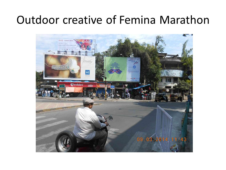 Outdoor creative of Femina Marathon