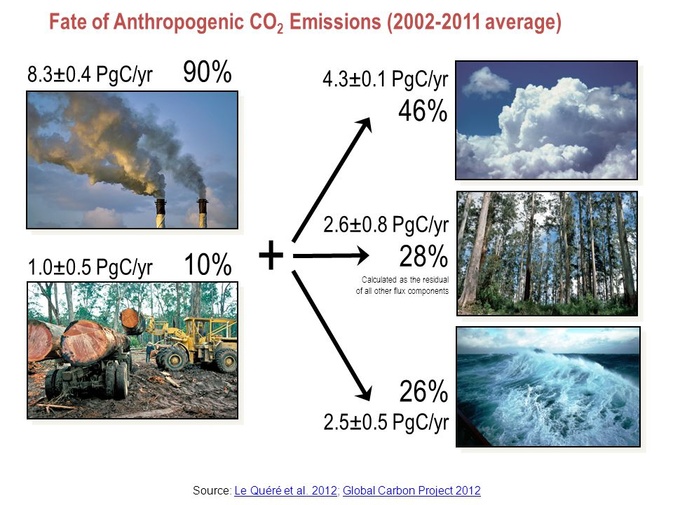 Top Fossil Fuel Emitters (Absolute) Top four emitters in 2011 covered 62% of global emissions China (28%), United States (16%), EU27 (11%), India (7%) The growing gap between EU27 and USA is due to emission decreases in Germany (45% of the 1990-2011 cumulative difference), UK (19%), Romania (13%), Czech Republic (8%), and Poland (5%) Source: CDIAC Data; Le Quéré et al.