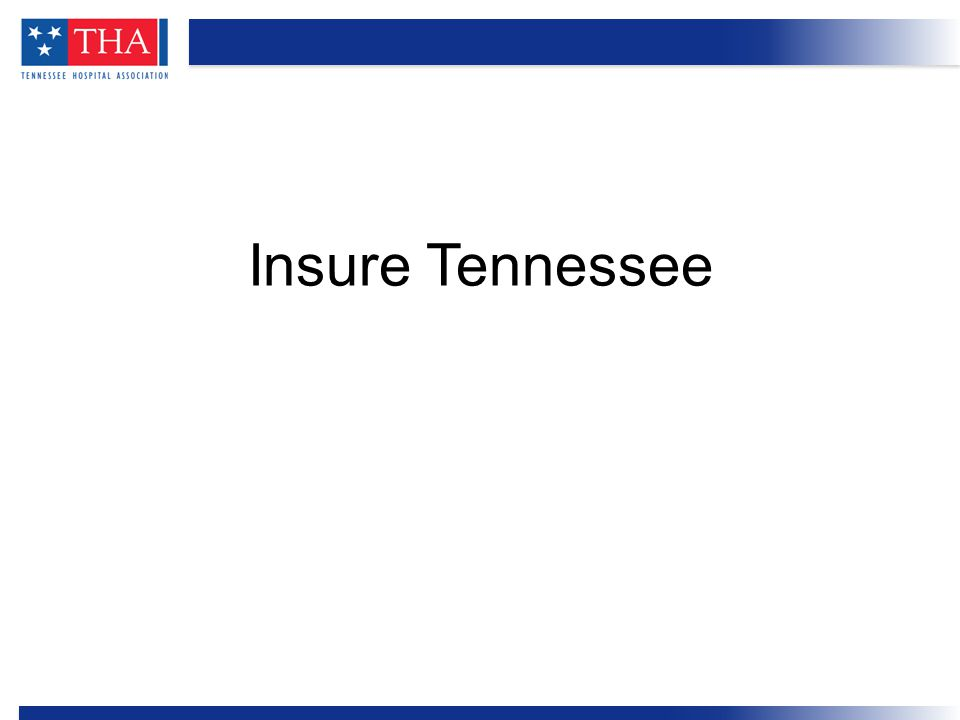 Insure Tennessee proposal Hospital role in funding Who benefits Outreach plans Overview