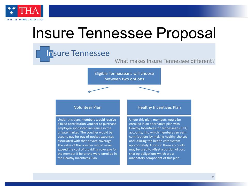 Insure Tennessee will leverage the enhanced federal funding which will pay for between 90 and 100 percent of the cost.