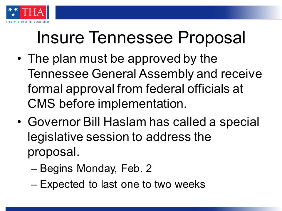 THA's board of directors unanimously voted to cover the state's portion of the cost for Insure Tennessee.