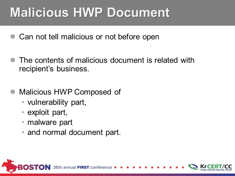 Can not tell malicious or not before open The contents of malicious document is related with recipient's business.