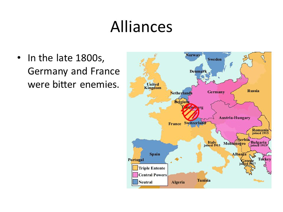German Alliance Germany joined Italy and Austria-Hungary in the Triple Alliance.