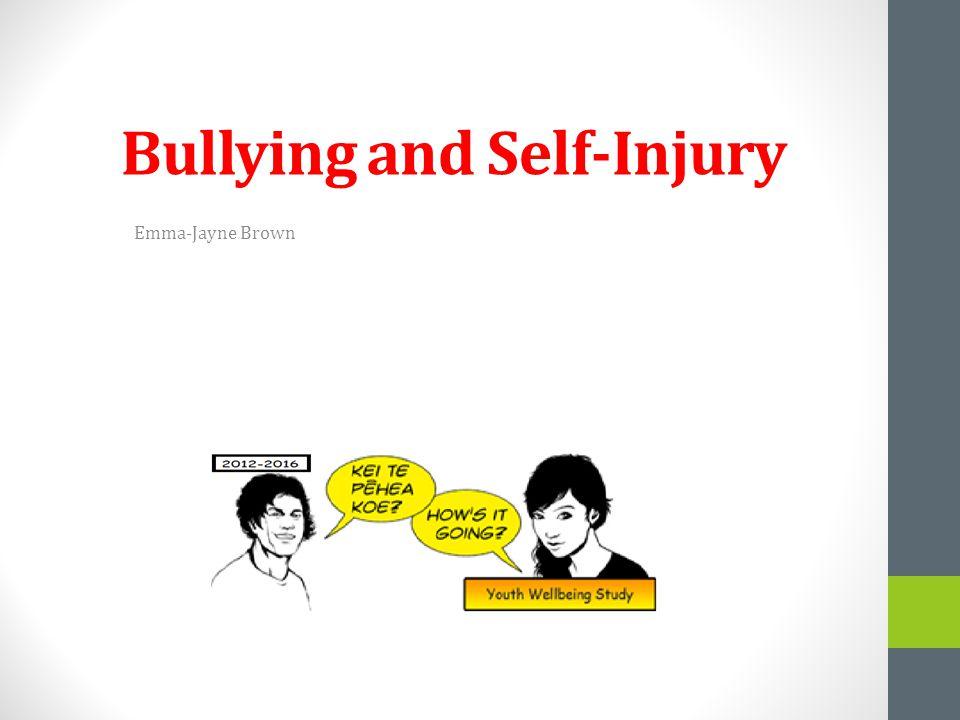 Bullying and Self-Injury Emma-Jayne Brown