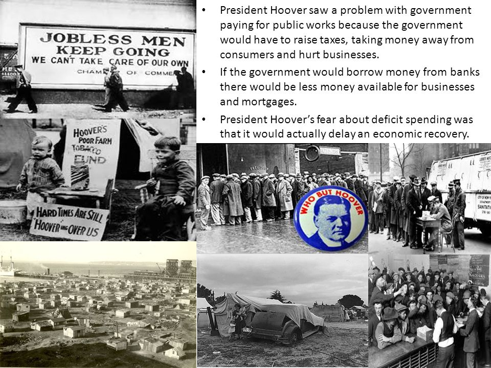 Hoover Responds President Hoover assured the nation that Industry was on a sound and prosperous basis. President Hoover won a pledge to keep factories