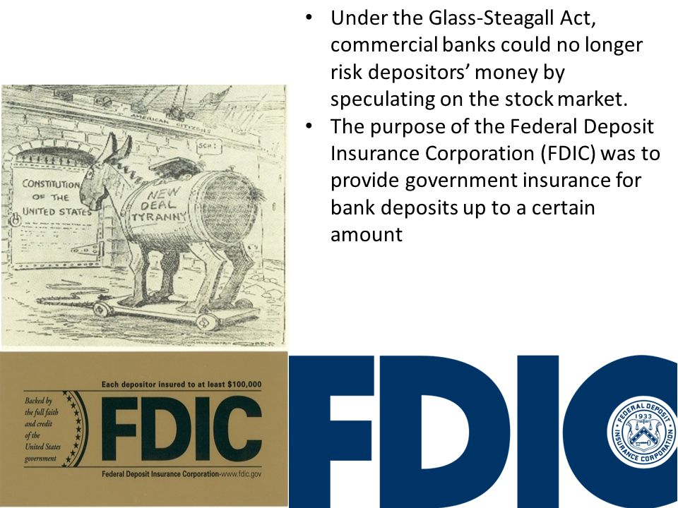 The First New Deal Fixing the Banks One of Roosevelt's first actions was to restore confidence in the banking system. The Emergency Banking Relief Act