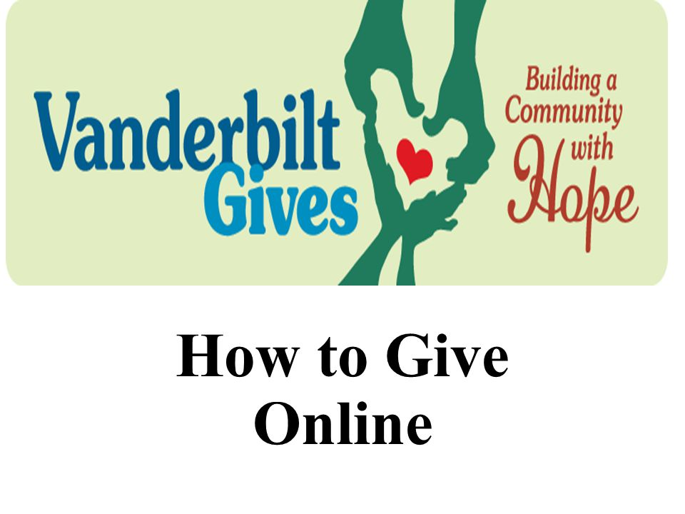 How to Give Online