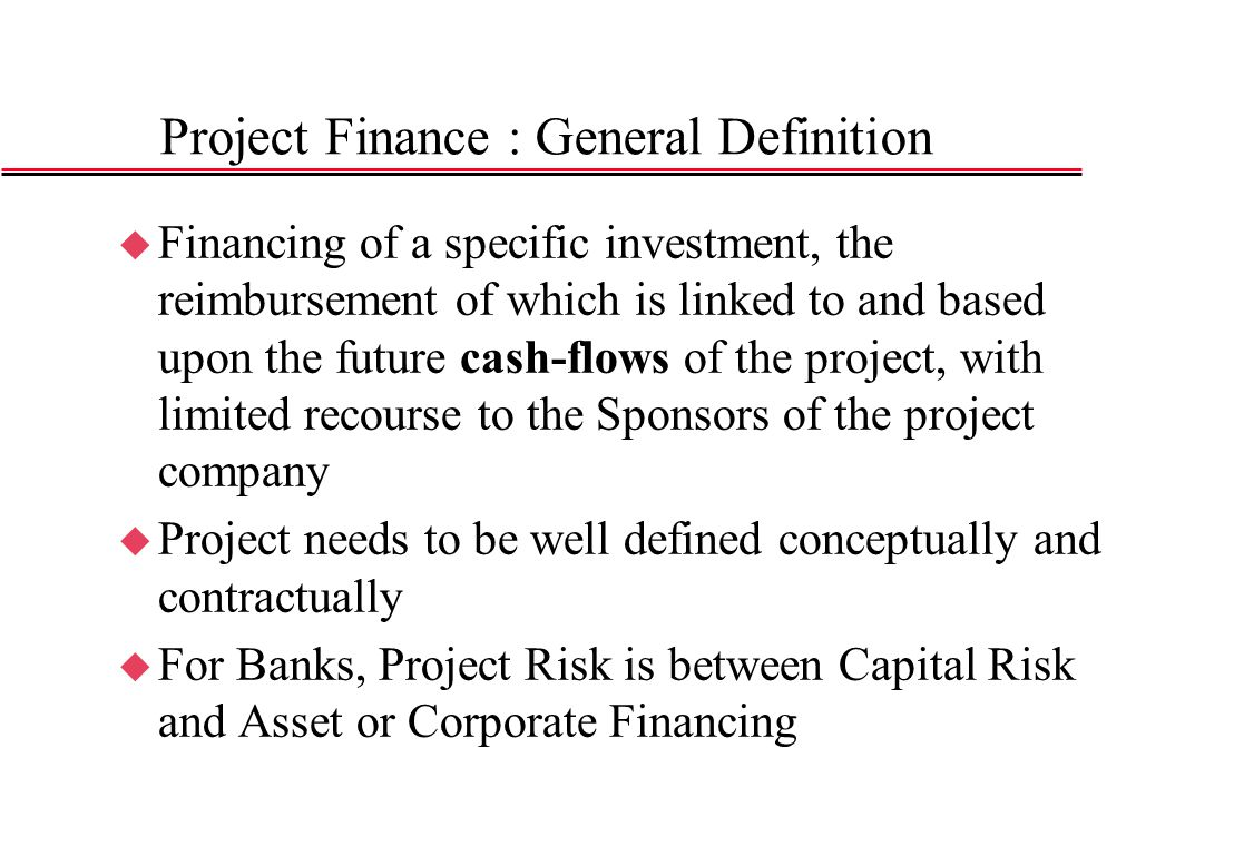 How do companies finance their Projects?
