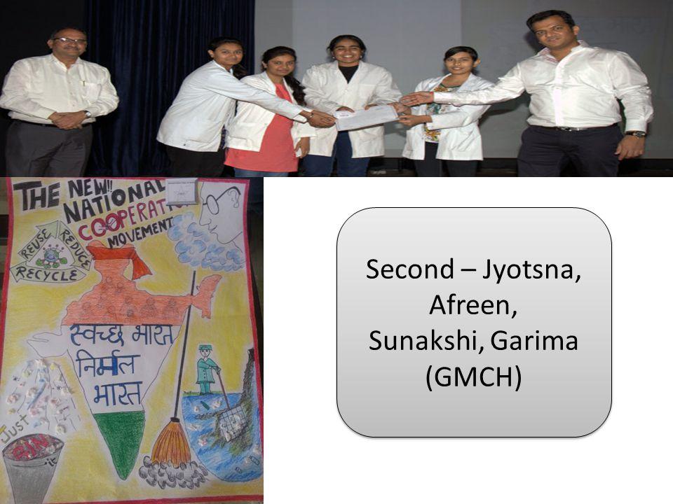 Second – Jyotsna, Afreen, Sunakshi, Garima (GMCH) Second – Jyotsna, Afreen, Sunakshi, Garima (GMCH)