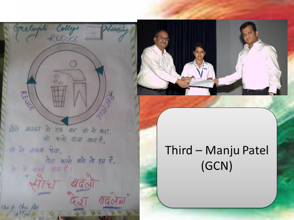 Third – Manju Patel (GCN)