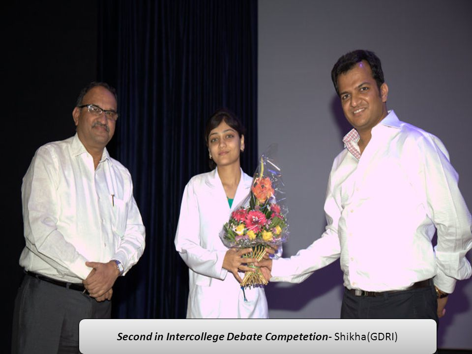 Second in Intercollege Debate Competetion- Shikha(GDRI)