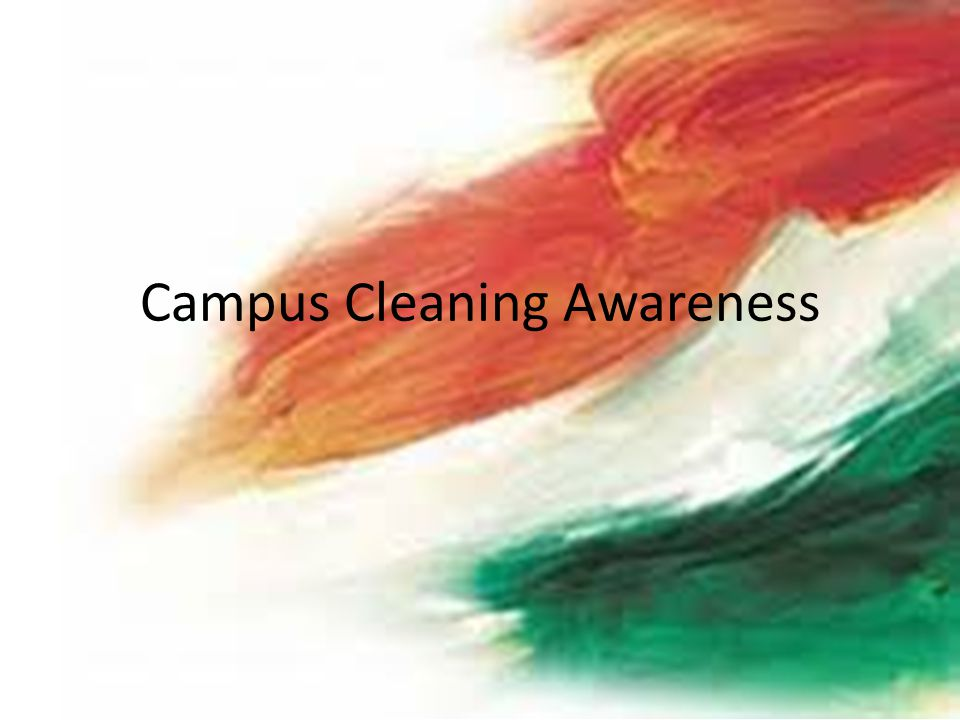 Campus Cleaning Awareness