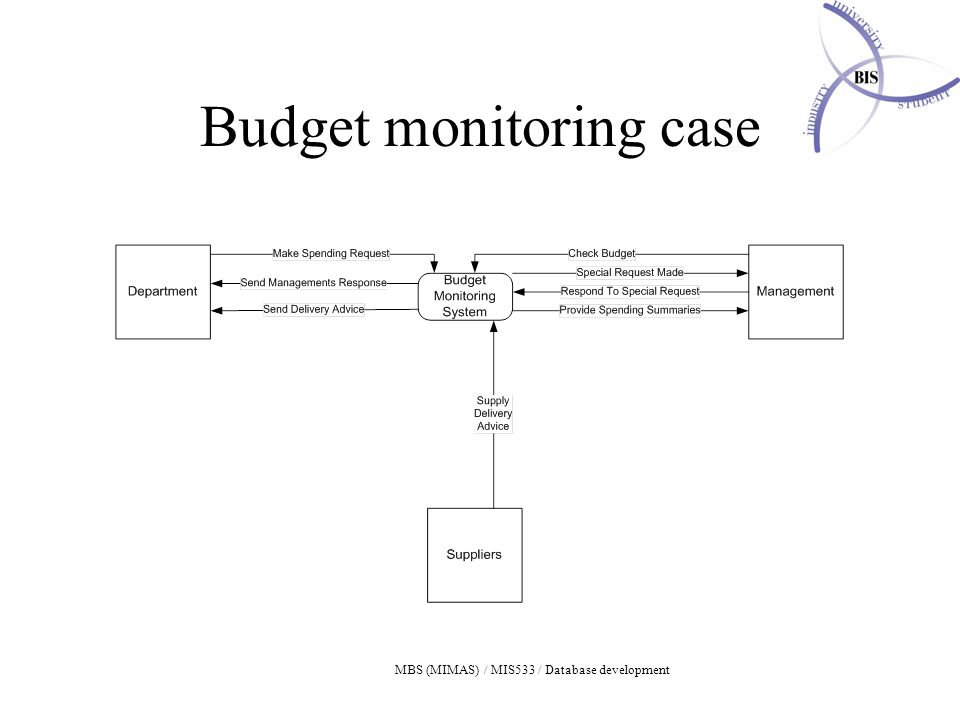 Budget monitoring case