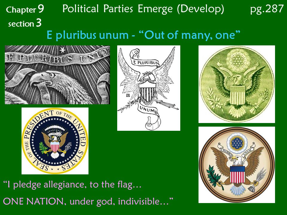 Chapter 9 section 3 pg.287 Political Parties Emerge (Develop)