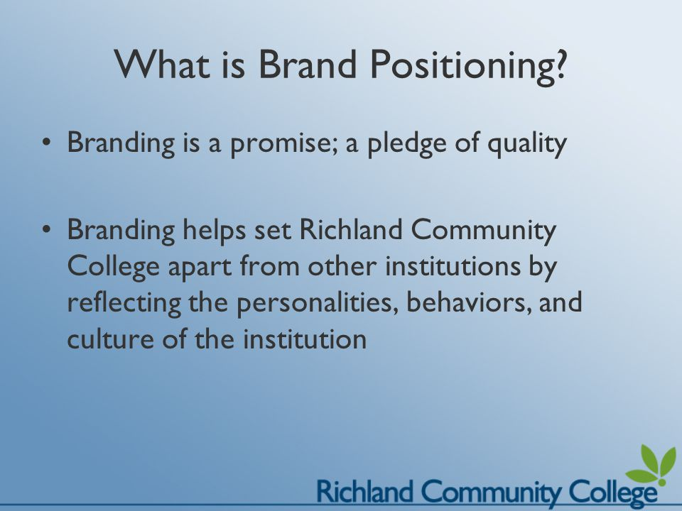 Why is Brand Positioning important.