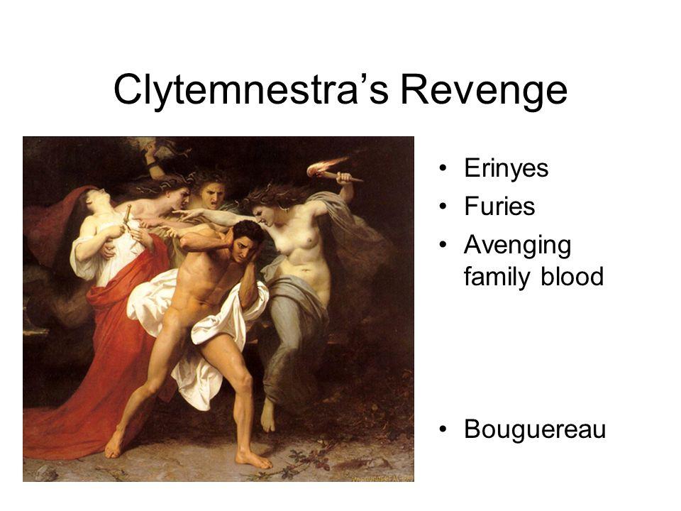 Clytemnestra's Revenge Erinyes Furies Avenging family blood Bouguereau