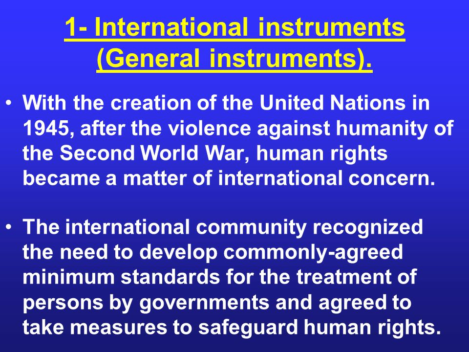 The UN Charter, an international treaty that is legally binding to all Member States, contains important provisions on human rights.