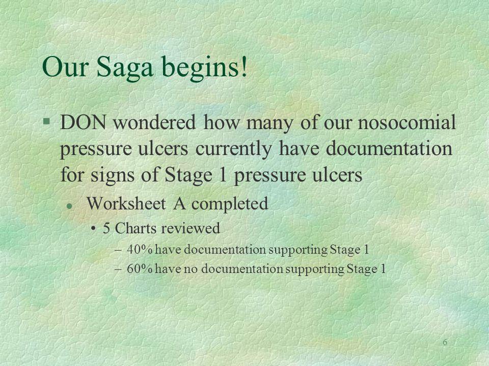 6 Our Saga begins.