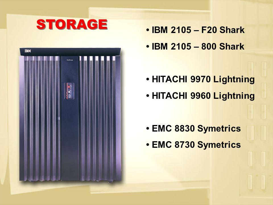 InRange FC/9000 McData ED6064, ED5000 EMC 1032 BROCADE 2800, 3800, 12000 IBM 2109-S08, S16, F08, F16 IBM 2032, 2042 SAN