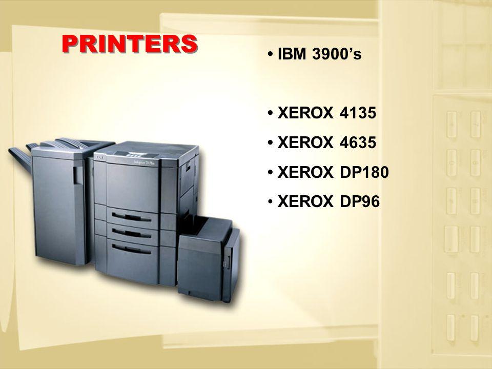 IBM 2105 – F20 Shark IBM 2105 – 800 Shark HITACHI 9970 Lightning HITACHI 9960 Lightning EMC 8830 Symetrics EMC 8730 Symetrics STORAGE
