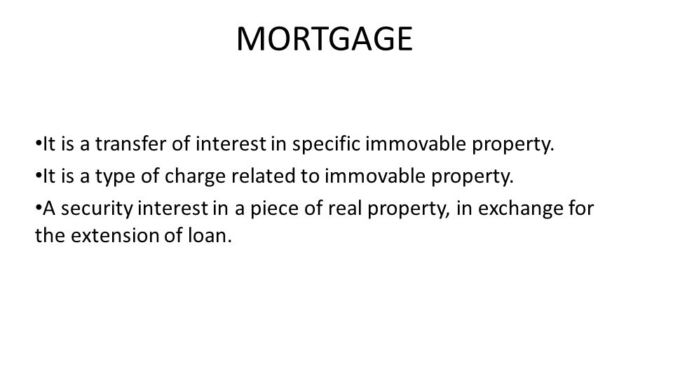 It is a transfer of interest in specific immovable property.