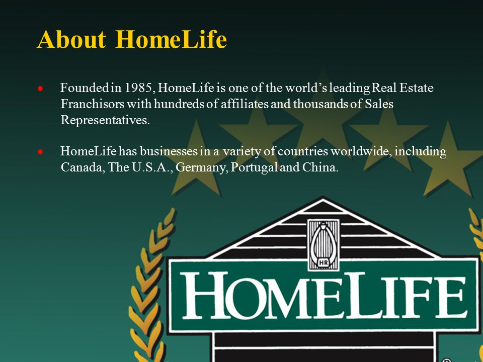 Higher Standards  At the core of HomeLife's remarkable success is the company pledge of Higher Standards.