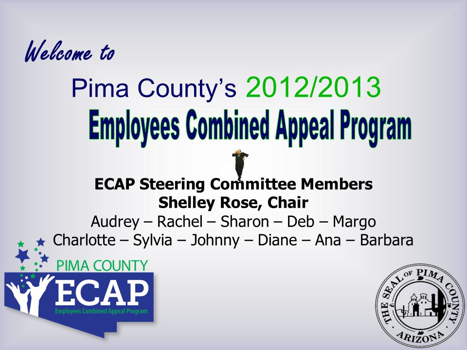 Distribute pledge forms  Preprinted  Online: www.pima.gov/ECAPwww.pima.gov/ECAP  Easy to complete