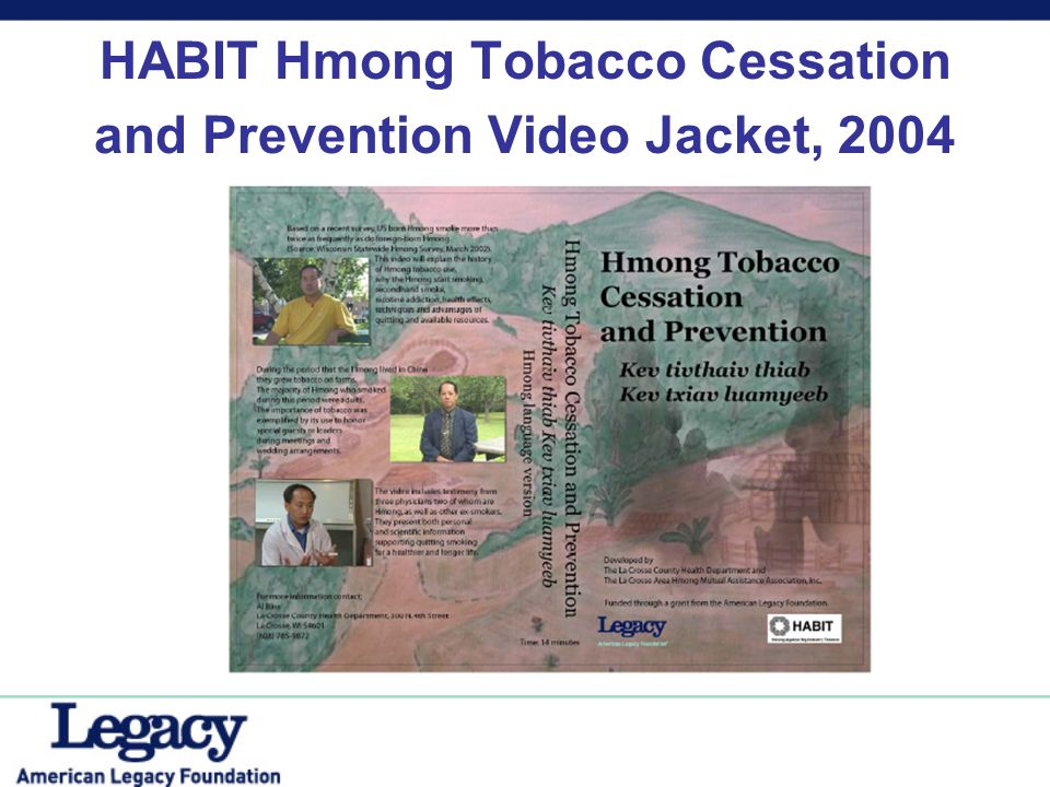 Linea Directa Series on Smoking Prevention & Cessation EVS Communications, Washington, DC Population served: Hispanic/Latino FOCUS: EVS produced a 2-year, eight-part series of programs to increase knowledge about tobacco- related health problems.