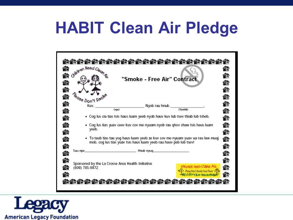 HABIT Clean Air Pledge