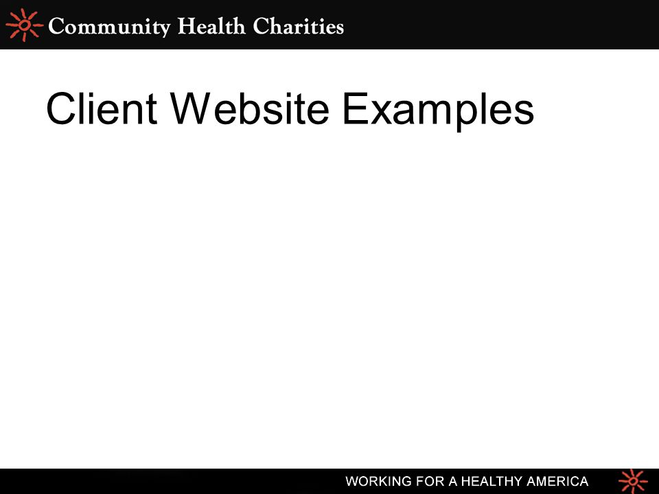 Client Website Examples
