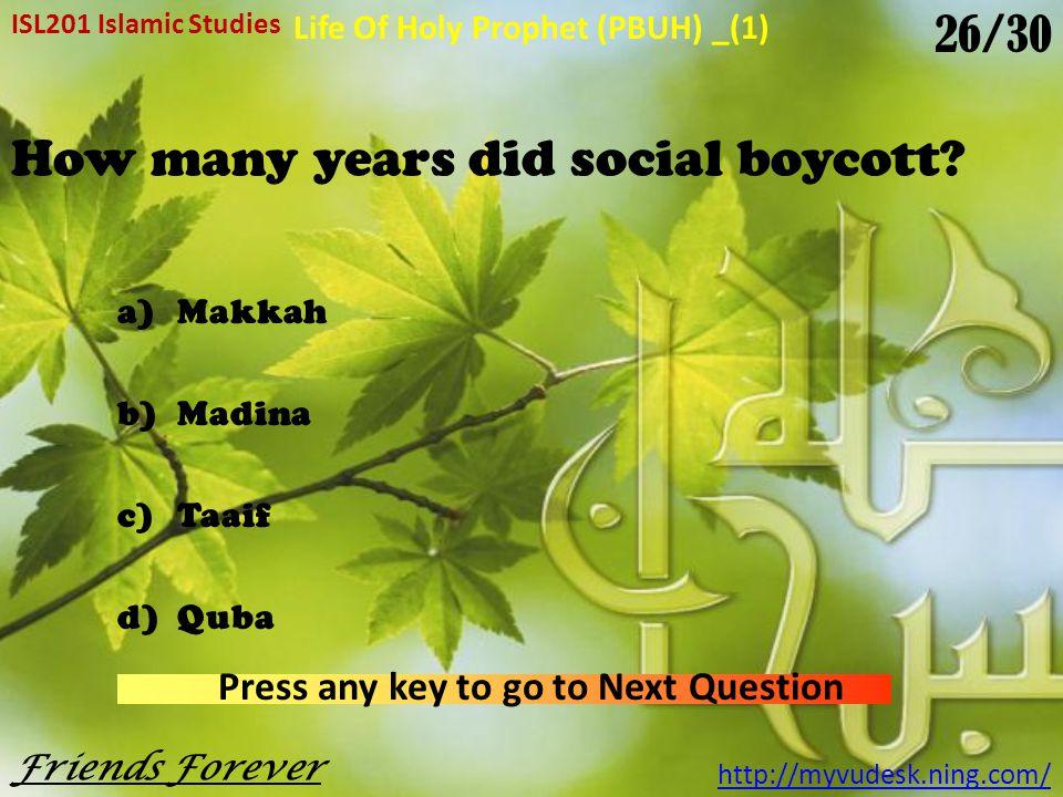 How many years did social boycott.